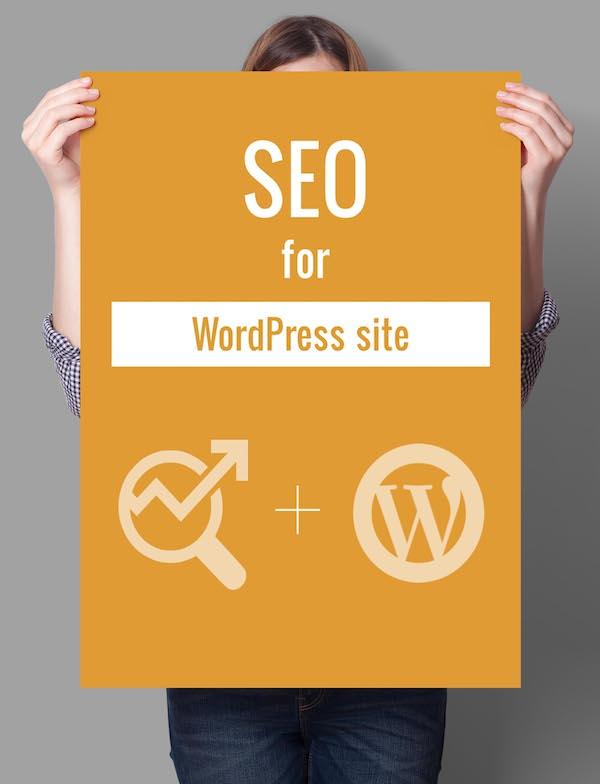 seo for wordpress poster
