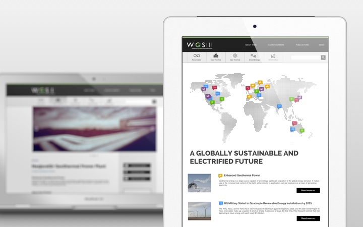 UI Design for The Waterloo Global Science Initiative