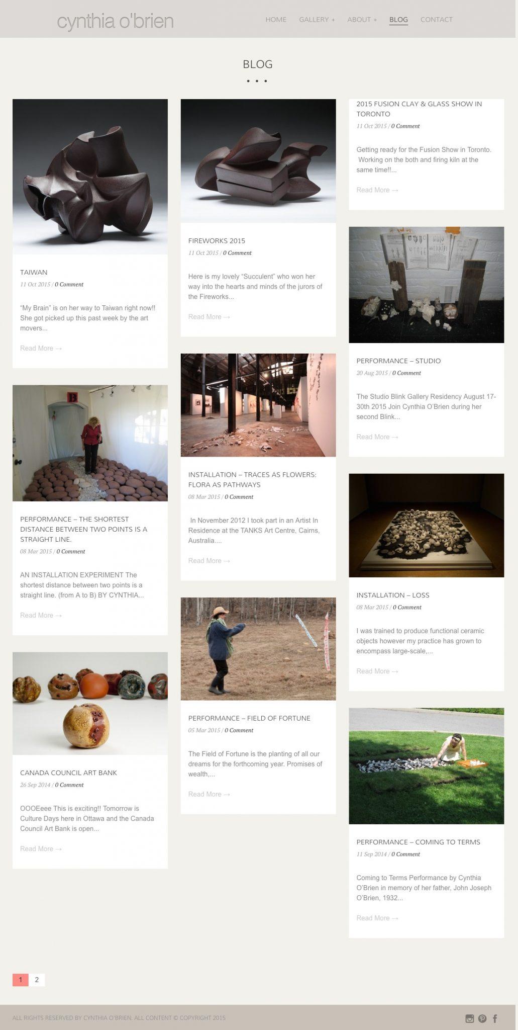 cynthia blog page