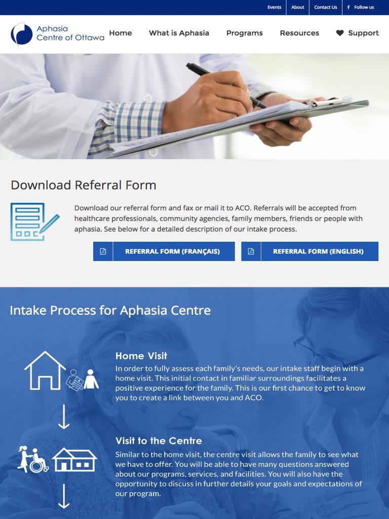 ACO refferal form