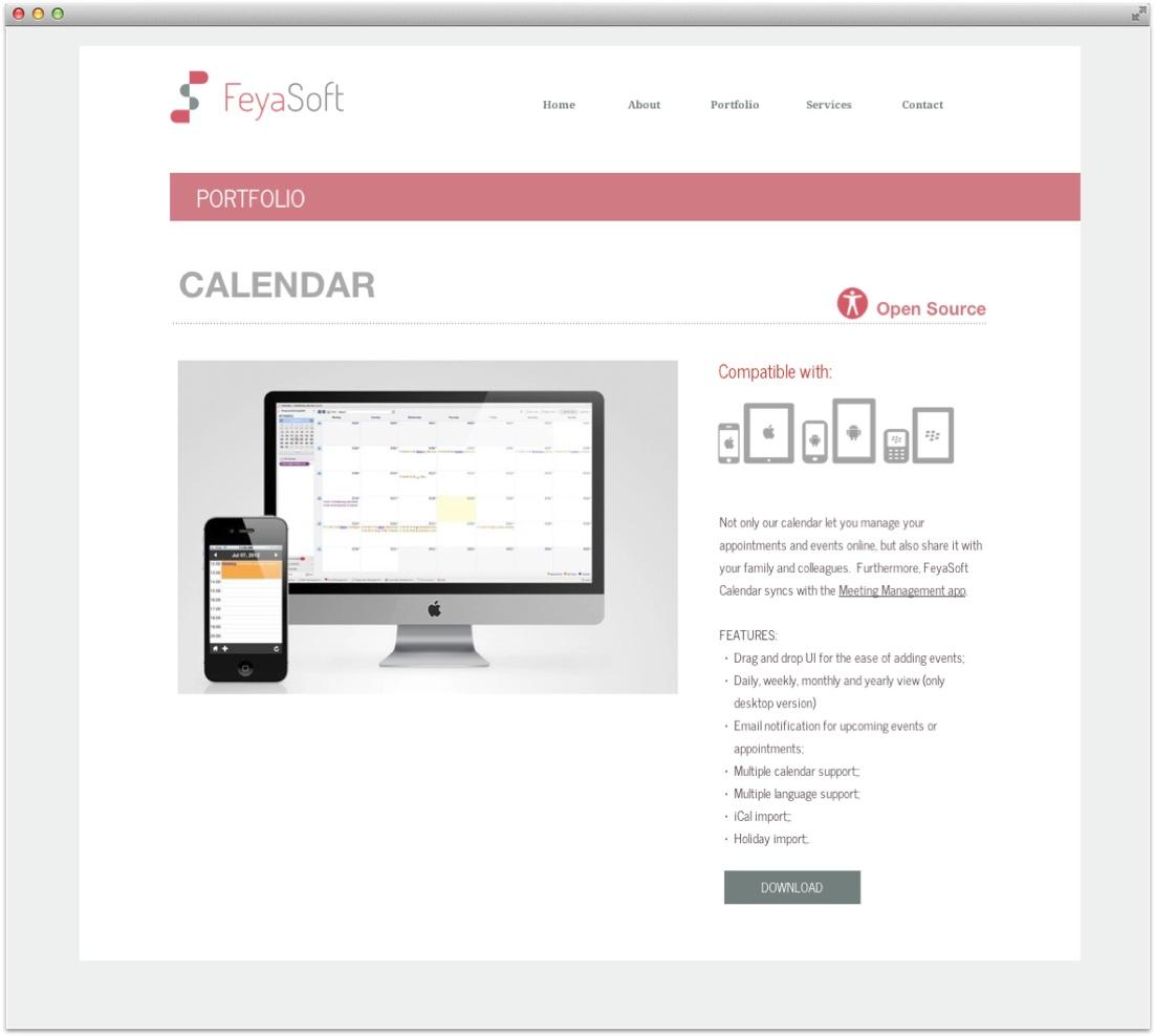 feyasoft-calendar-page