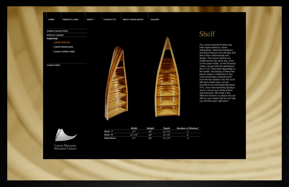 rheaume canoes_shelves
