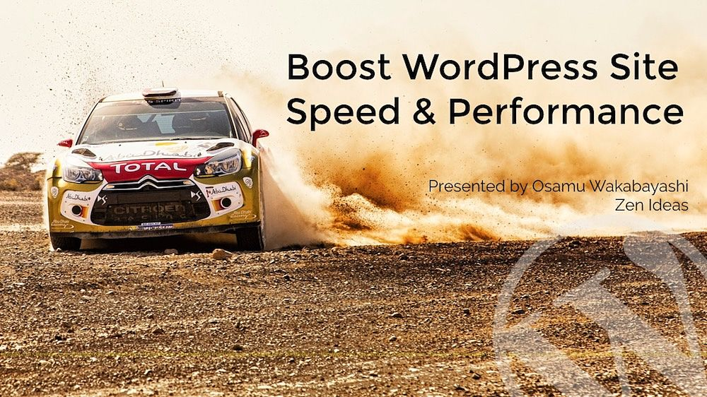 How to speed up your WordPress site seminar cover