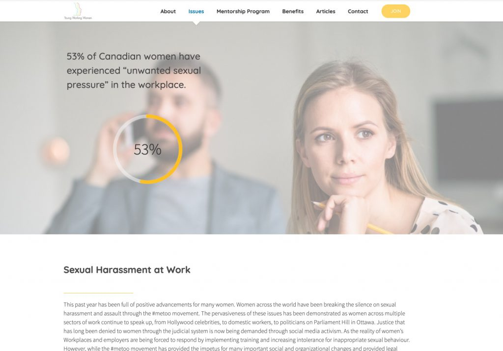 Young working woman website image 2