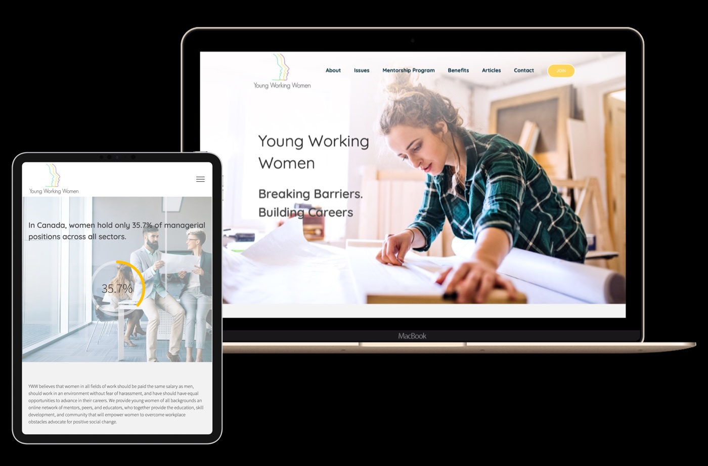 Young working women portfolio image